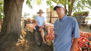 Dan and Iris on the farm