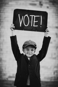blackboard-kid-vote